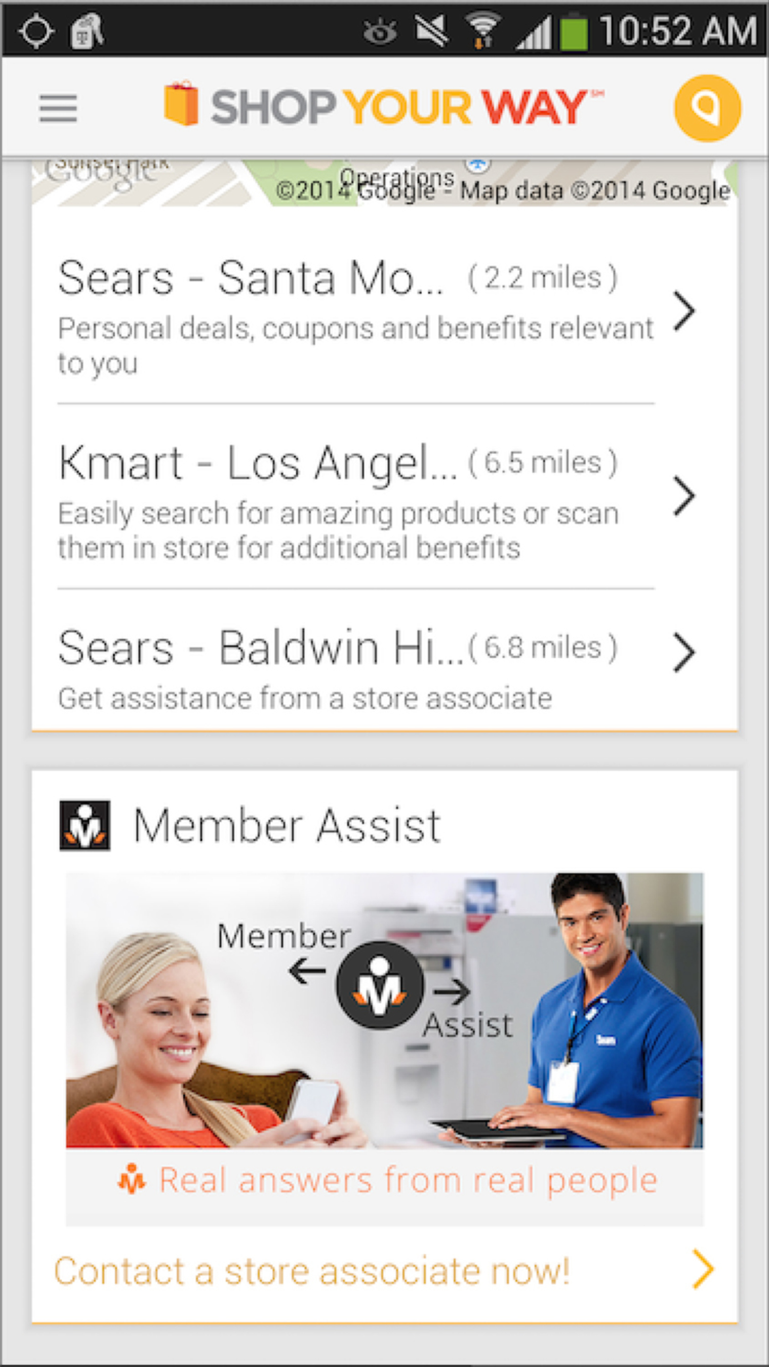 Sears(R) Member Assist tool leverages the online and mobile channels that members use to easily tap into the expertise of Sears' nationwide team of knowledgeable store associates, as well as members of the Shop Your Way community, to get advice on products and services important to them. (PRNewsFoto/ Sears Holdings Corporation )