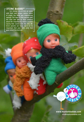 STORK BABIES ARE HERE TO PLAY! Check these beautiful babies out!  (PRNewsFoto/The Fiammetta Toy Co. Inc.)
