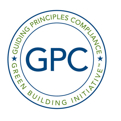 Guiding Principles Compliance logo.  (PRNewsFoto/Green Building Initiative)