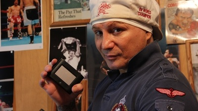 "Boxer Vinny Paz with ""Wocket™ In Your Pocket"""