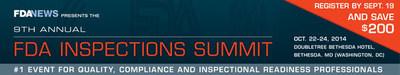 FDAnews: 9th Annual FDA Inspections Summit (PRNewsFoto/FDAnews)