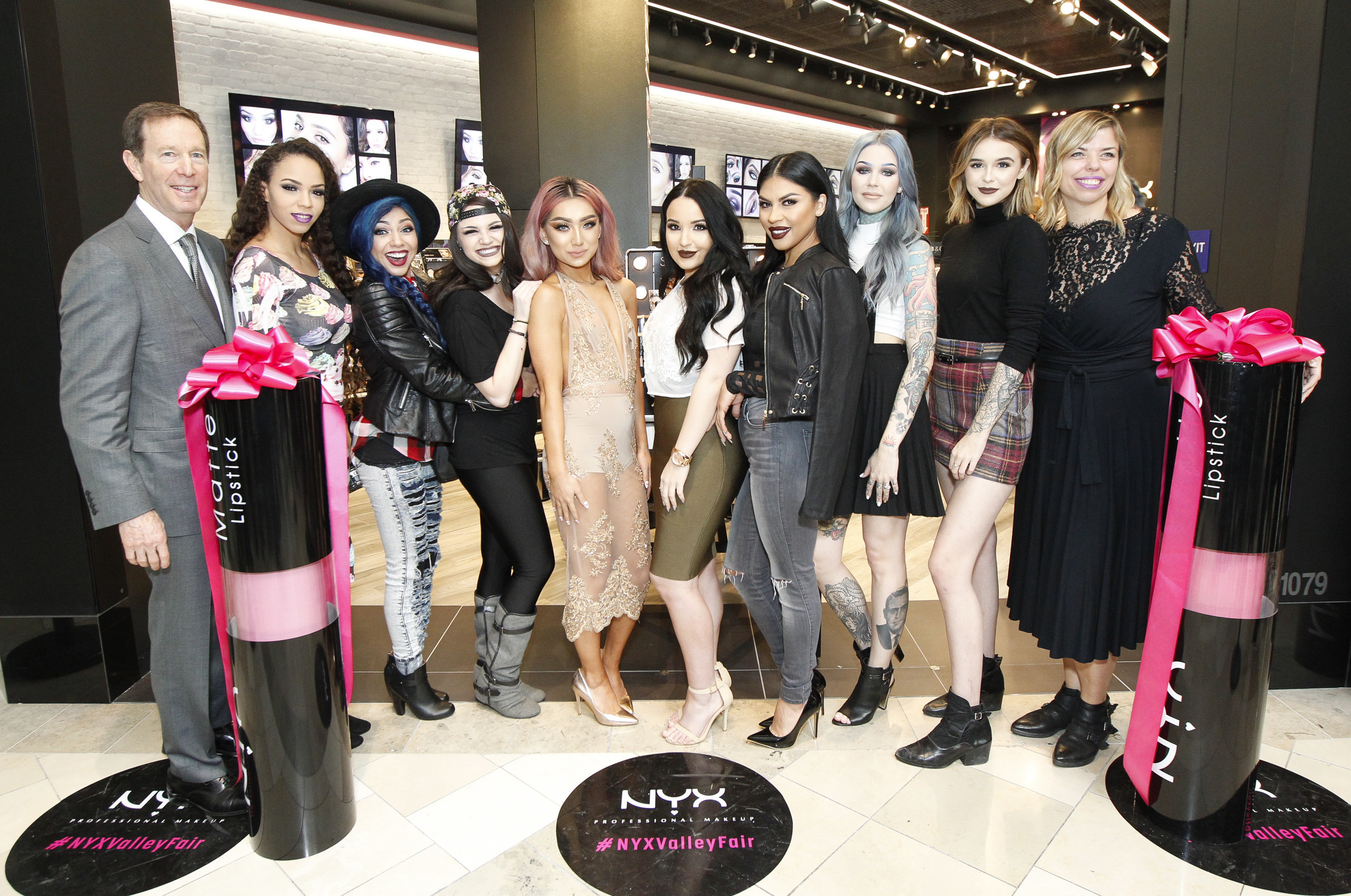 NYX Professional Makeup opens first retail store in Northern California at Westfield Valley Fair shopping center on Friday, Jan. 22, 2016.