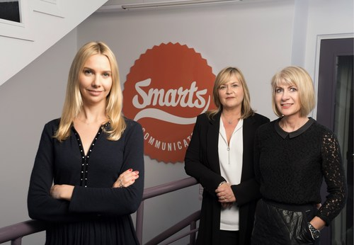 Belfast-based global PR and content agency Smarts Communicate today announced the expansion of its international communications business with the opening of a new office in London. (L-R) Managing Partner Helen Rainford will head up the new London office and is pictured alongside Smarts Communicate Joint Managing Directors Pippa Arlow and Leontia Fetherston. (PRNewsFoto/Smarts Communicate) (PRNewsFoto/Smarts Communicate)