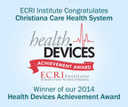 ECRI Institute is pleased to announce Christiana Care Health System, Wilmington, DE, as the winner of its 9th Annual Health Devices Achievement Award. The award recognizes an outstanding initiative undertaken by an ECRI Institute member healthcare institution that improves patient safety, reduces costs, or otherwise facilitates better strategic management of health technology. (PRNewsFoto/ECRI Institute)