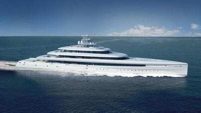 Acquaintance 107m/351ft - Philippe Briand - Vitruvius Yachts Ltd. (PRNewsFoto/Oceanco)