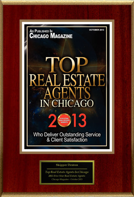 "Skipper Denton Selected For ""Top Real Estate Agents In Chicago"".  (PRNewsFoto/American Registry)"