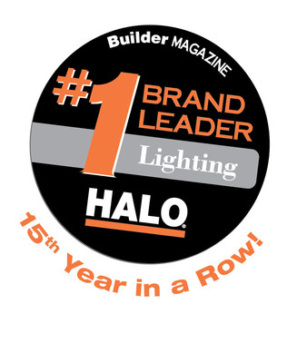 Cooper Lighting's Halo brand of recessed, track and surface lighting products has once again been named the Brand Leader in lighting by Builder magazine; marking its fifteenth consecutive year honored.  (PRNewsFoto/Cooper Lighting)