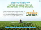 Bayer CropScience is providing 200,000 meals to Feeding America(R). Visit www.thankful4ag.com. (PRNewsFoto/Bayer CropScience LP)