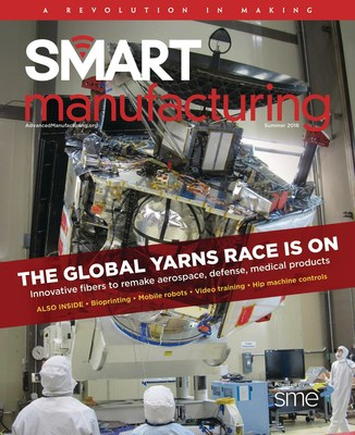 Smart Manufacturing, published quarterly by SME's Advanced Manufacturing Media, can be reviewed and downloaded at sme.org/smart