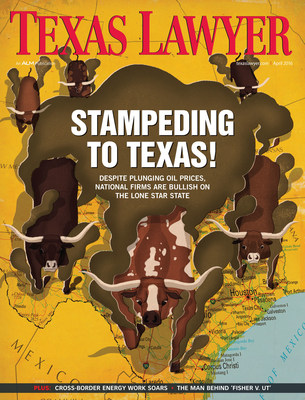 Texas Lawyer April 2016 Cover