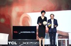 """China women's national volleyball team head coach """"Jenny"""" Lang Ping and TCL Corporation chairman and CEO Li Dongsheng jointly announce the release of the XESS lineup of TV products"""
