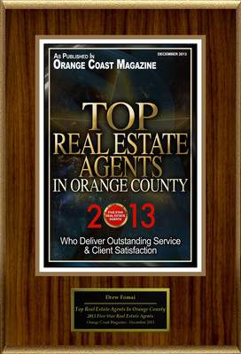 "Drew Fomai Selected For ""Top Real Estate Agents In Orange County"".  (PRNewsFoto/American Registry)"