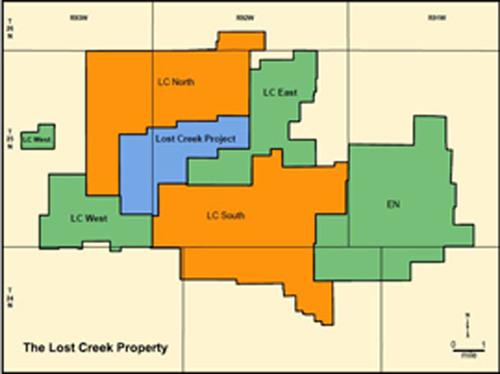 Ur-Energy's Lost Creek Wyoming Property.  (PRNewsFoto/Ur-Energy Inc.)