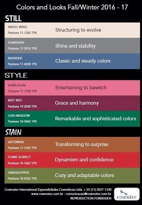 Cosmotec's Colors and Looks Fall/Winter 2016-17
