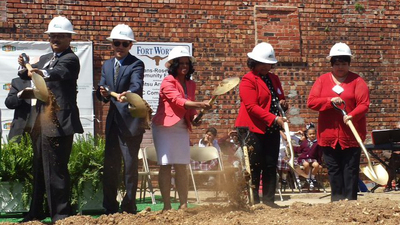 State Rep. Nicole Collier, an attorney with the Eberstein & Witherite law firm, joined Tarrant County Commissioner Roy Brooks and others at a groundbreaking ceremony for the reconstruction of the Bethlehem Community Center on Friday, April 4.  (PRNewsFoto/Eberstein & Witherite 1800 CAR WRECK)