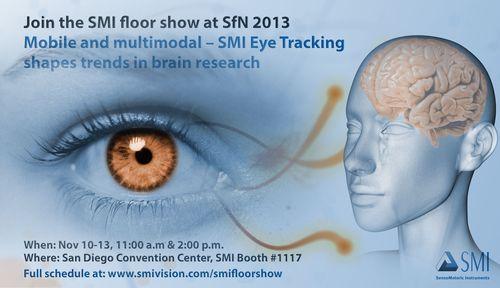 Join the SMI floor show SfN 2013 (PRNewsFoto/SensoMotoric Instruments GmbH)