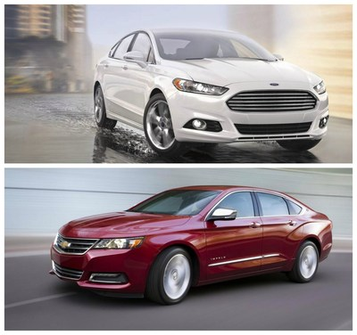 Two attractive sedan options, the 2015 Ford Fusion and the 2015 Chevy Impala, have now arrived at Harbin Automotive in Scottsboro, Ala. To schedule a test drive, contact the dealer today! (PRNewsFoto/Harbin Automotive)