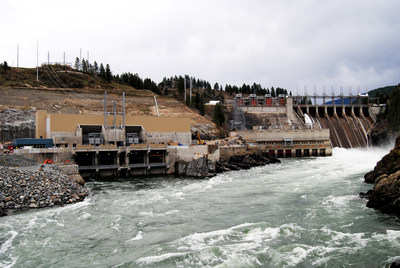 (Source: Columbia Power Corp.) The Waneta Expansion Project powers about 60,000 homes per year through clean, renewable hydroelectric power.