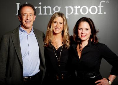 Jon Flint, Jennifer Aniston, and Jill Beraud of Living Proof.  (PRNewsFoto/Living Proof)