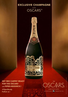 """PIPER-HEIDSIECK Unveils """"Red Carpet Ready"""" Limited Edition Bottle Exclusively For The 88th Annual Oscars(R)"""