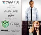 Volanti at NAMM with AmpLive & Dot