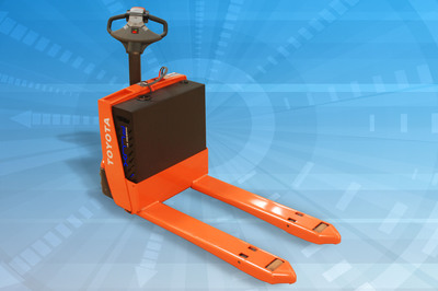 """Flux Power's new 24V LiFT(TM) Pack is specifically designed to extend life, reduce maintenance and lower the cost of energy storage systems in material handling equipment, such as this """"walkie.""""  (PRNewsFoto/Flux Power Holdings, Inc.)"""
