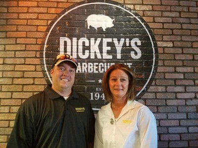 Jeffrey and Kristen Hood open Dickey's Barbecue Pit in Brighton, CO.