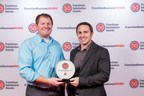 Co-founders Charles Willis, President (left) and Craig Ceccanti, CEO (right) accept their Franchsiee Satisfaction award at the 2013 IFA Conference. Pinot's Palette has been rated highest in the paint-and-sip franchise category since 2013.