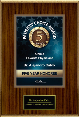 Dr. Alejandro Calvo of Dayton, Ohio is a Five-Time Patients' Choice Honoree.  (PRNewsFoto/American Registry)