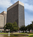 W. P. Carey announced today two acquisitions completed on behalf of its managed REITs at year-end 2013: a 22-story office tower in downtown Houston, leased primarily to KBR, Inc. (pictured here) and three properties leased to Crowne Group Incorporated, a privately held diversified manufacturer of automotive and industrial equipment parts.  (PRNewsFoto/W. P. Carey Inc.)