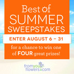 FromYouFlowers.com launches The Best of Summer Sweepstakes!