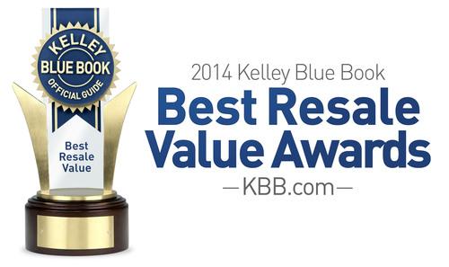 Kbb Com Cars Value >> 2014 Best Resale Value Award Winners Announced By Kelley