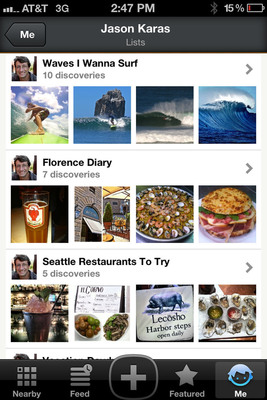 Trover's new Lists feature allows explorers to share local recommendations and adventure stories with others who wish to follow their path.  (PRNewsFoto/Trover)