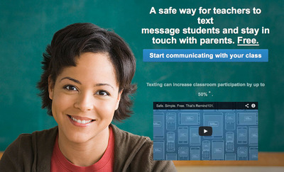 Remind101 is an innovative service that gives teachers a safe and free way to text message students and stay in touch with parents. Since its launch less than two years ago, Remind101 has experienced a meteoric rise in popularity among K-12 teachers. Already, more than 200,000 teachers are using the service, and have sent more than 110 million text messages to nearly 4 million students and parents.  (PRNewsFoto/Remind101)