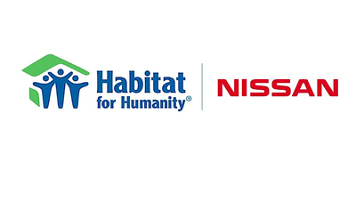 Habitat for Humanity and Nissan logo.