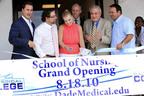 Dade Medical College CEO, Ernesto Perez and wife Silvia alongside Miami Mayor Tomas Regalado for the Nursing School inauguration.  (PRNewsFoto/Dade Medical College)