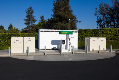 New station on Honda R&D Americas' Torrance, California campus built in anticipation of Honda's next-generation fuel cell electric vehicle, due in 2015.  (PRNewsFoto/American Honda Motor Co., Inc.)