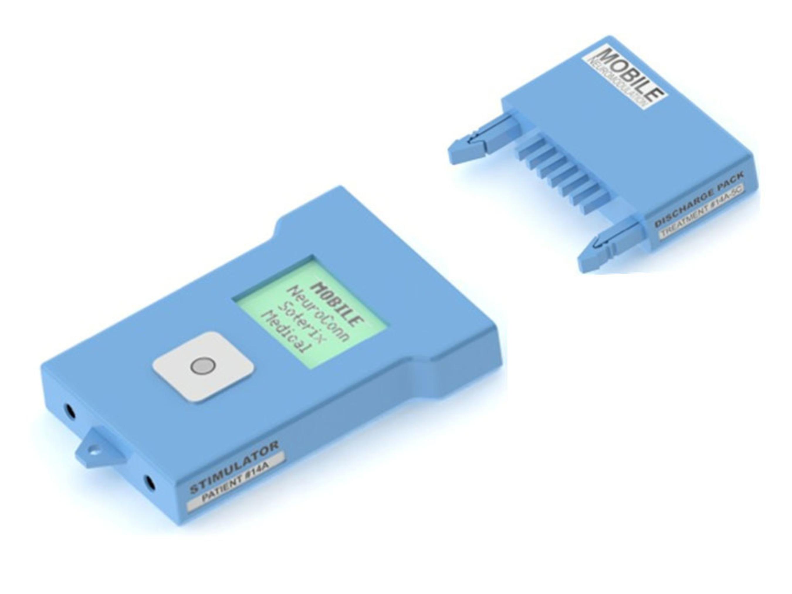 MOBILE neuromodulation stimulator and storage module. (PRNewsFoto/Soterix Medical Inc.) (PRNewsFoto/SOTERIX MEDICAL INC.)