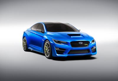THE ALL-NEW SUBARU WRX CONCEPT DEBUTS AT THE 2013 NEW YORK INTERNATIONAL AUTO SHOW.  (PRNewsFoto/Subaru of America, Inc.)