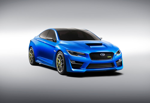 THE ALL-NEW SUBARU WRX CONCEPT DEBUTS AT THE 2013 NEW YORK INTERNATIONAL AUTO SHOW. (PRNewsFoto/Subaru of ...