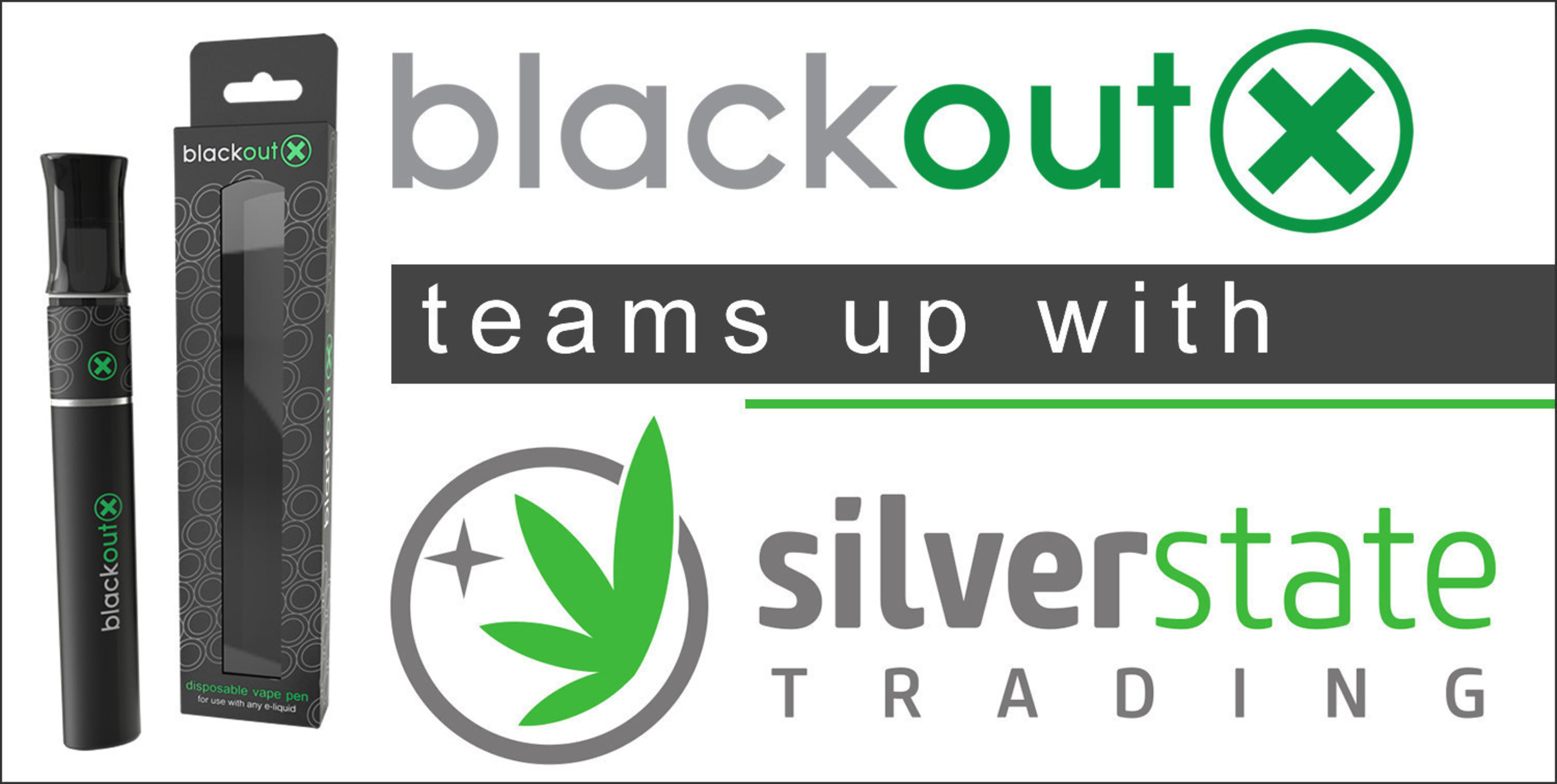 Blackout X teams up with Silver State Trading to deliver disposable vaporizers pre-filled with medical cannabis oils and waxes in Nevada.  Blackoutx.com