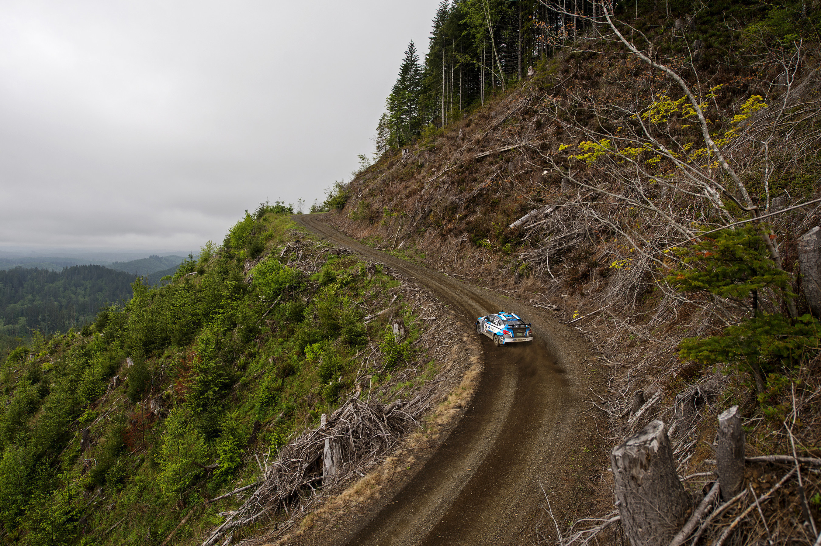 Subaru Rally Team USA Driver David Higgins Stays Undefeated with Victory at Legendary Olympus Rally