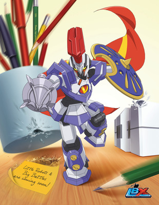 Dentsu Entertainment USA announces LBX to air on Nicktoons; Bandai America unveiling first robots at NYC Toy Fair.  (PRNewsFoto/Dentsu Entertainment USA, Inc.)