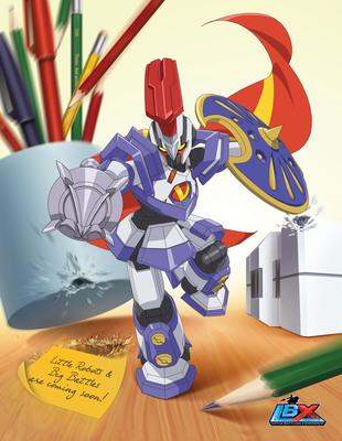 Dentsu Entertainment USA announces LBX to air on Nicktoons; Bandai America unveiling first robots at NYC Toy Fair.  (PRNewsFoto/Dentsu Entertainment USA, Inc.)
