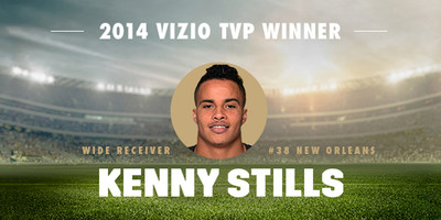"Fans Select New Orleans Wide Receiver Kenny Stills As 8th Annual VIZIO ""Top Value Performer."" Stills Clinches Honors with Fan Votes for 2014 On-Field Performance."