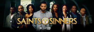 Bounce TV -- the nation's first and only broadcast television network designed for African-American (AA) audiences and TV's fastest-growing AA network -- is expanding into hour-long drama with Saints & Sinners, which will center around the pursuit of power, intertwined with deceit, greed, corruption and murder - all set against the backdrop of a large southern church.  Saints & Sinners will be seen Sunday nights at 9:00 p.m. (ET) starting March 6.