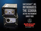 Switchcraft(R), Inc. Introduces the SC800A Active Instrument Direct Box