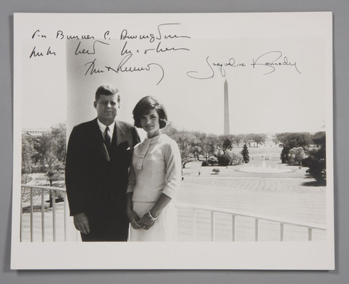 Original White House photo signed and inscribed by President John F. Kennedy and First Lady Jacqueline Kennedy.  ...