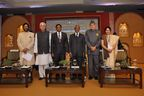 L-R: Dr. R.K.Pachauri, Director General, TERI; Mr Salman Khurshid, Hon'ble Minister of External Affairs, Govt. of India; Mr Danny Faure, Vice- President of Seychelles; Mr Kofi Annan, Nobel Laureate and Former Secretary-General, United Nations; Dr. Farooq Abdullah, Hon'ble Minister of New and Renewable Energy, Govt. of India; Dr. Annapurna Vancheswaran, Director, Sustainable Development Outreach, TERI.