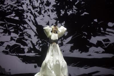 Supermodel Coco Rocha performs at Lexus Design Disrupted event.  (PRNewsFoto/Lexus)
